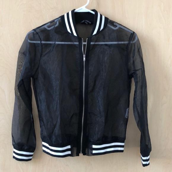 059b3272eb20 Haoduoyi Jackets & Coats | Mesh Black Jacket | Poshmark